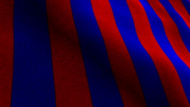 vídeos de stock e filmes b-roll de amaranth and blue flag, textile carpet background, still camera, loop - campeão soccer football azul