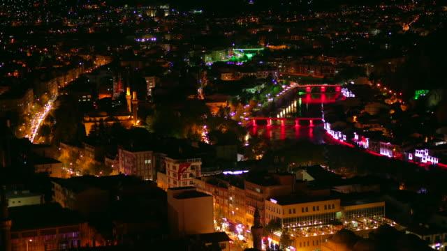 Amasya night city time-lapse image