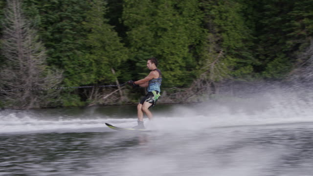 Amateur Teenage Slalom Waterskiing Waterskier video
