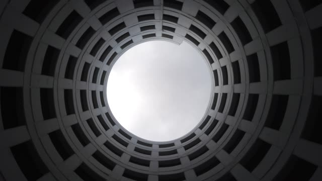 amazing architecture at parking building. - black and white architecture stock videos & royalty-free footage
