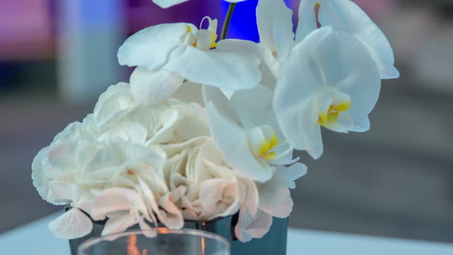 Amazing bouquet of white roses and orchids