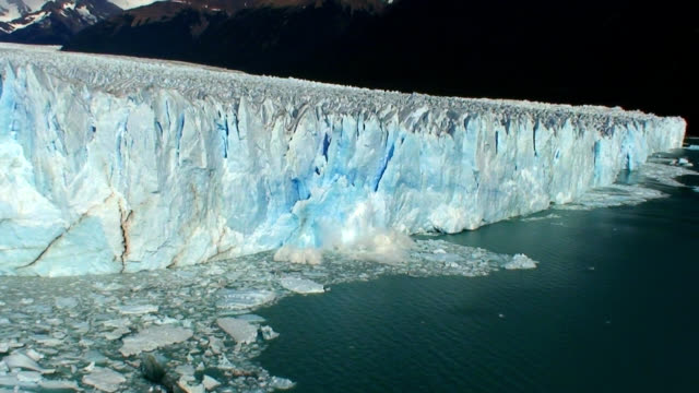 Amazing Glacier breaking and falling HD video