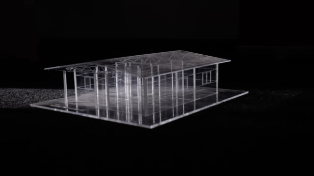 Amazing glass Model House On Black Background -  stock video Amazing glass Model House On Black Background -  stock video wire frame model stock videos & royalty-free footage