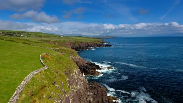 アイルランドのディングルの海岸の素晴らしい風景 ビデオ