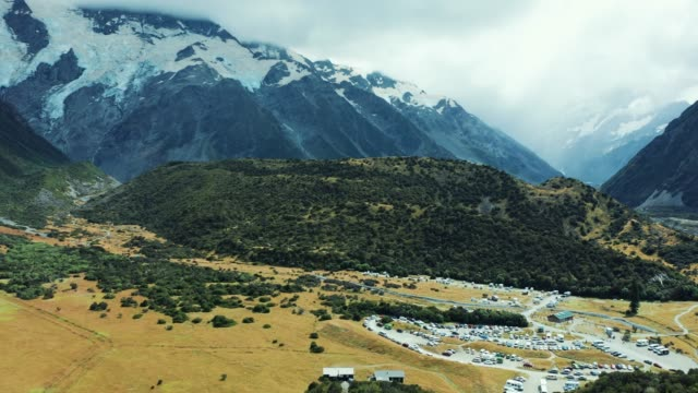 Amazing Mt Cook Valley along route 80, Aoraki National Park, New Zealand