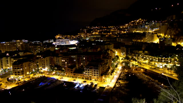 Amazing night view of Monte Carlo area in Monaco, brightly illuminated cityscape Amazing night view of Monte Carlo area in Monaco, brightly illuminated cityscape monte carlo stock videos & royalty-free footage