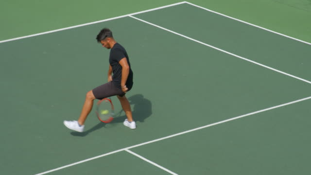 Amazing shot by a Tennis Player and he celebrates in style. video