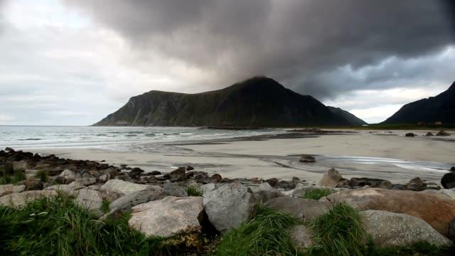amazing skagsanden beach - arcipelago video stock e b–roll