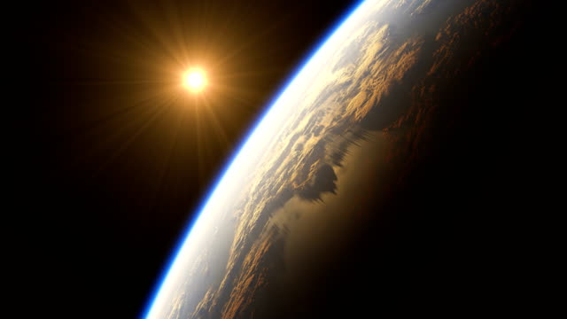 Amazing Sunrise Over The Earth. View Of Planet Earth From Space. 4K. video