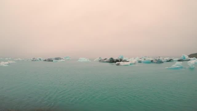 Amazing view of glacial lake Jokulsarlon in Iceland, Summertime Video of Amazing view of glacial lake Jokulsarlon in Iceland, Summertime (4K) icecap stock videos & royalty-free footage