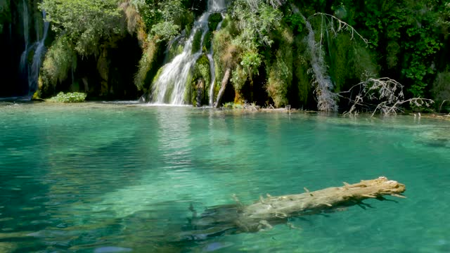 Amazing view on turquoise water. Plitvice Lakes National Park video