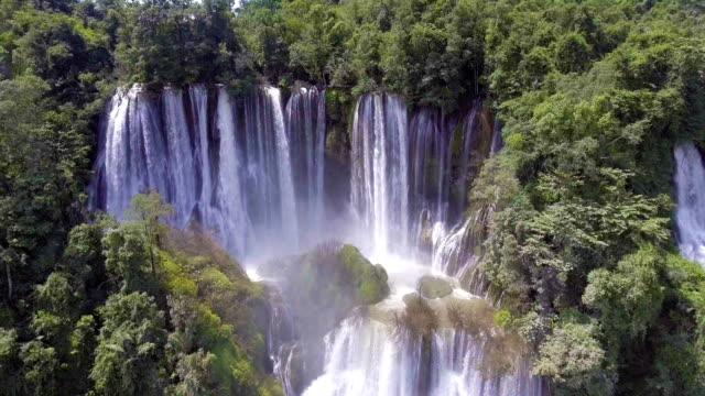 Amazing waterfall in deep rain forest, Thi Lo Su waterfall, Thailand video