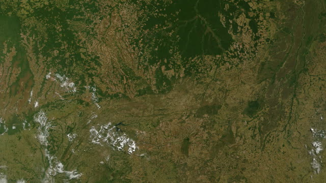 Amazon Rainforest Logging and Deforestation from Space video