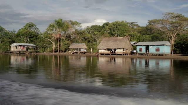 Amazon Village, Peruvian Amazon, Peru video