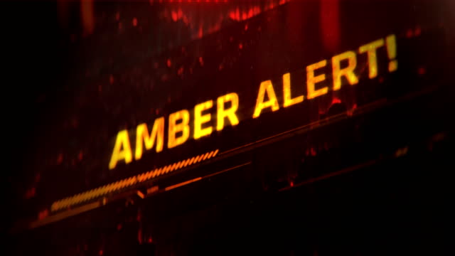 Amber alert message, text on red background, child abduction emergency alert Warning message on smartphone or computer screen lost stock videos & royalty-free footage