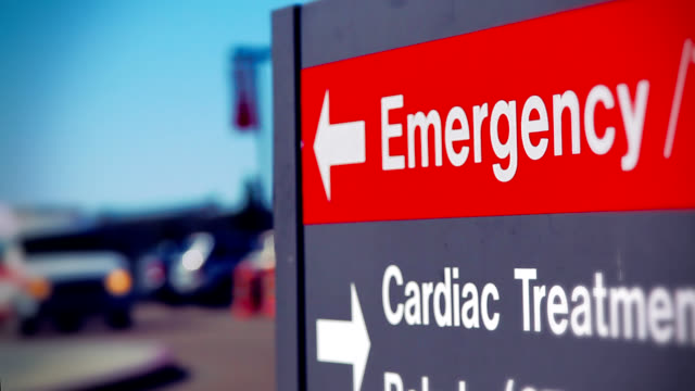 ambulance and emergency room sign - hospital stock videos & royalty-free footage