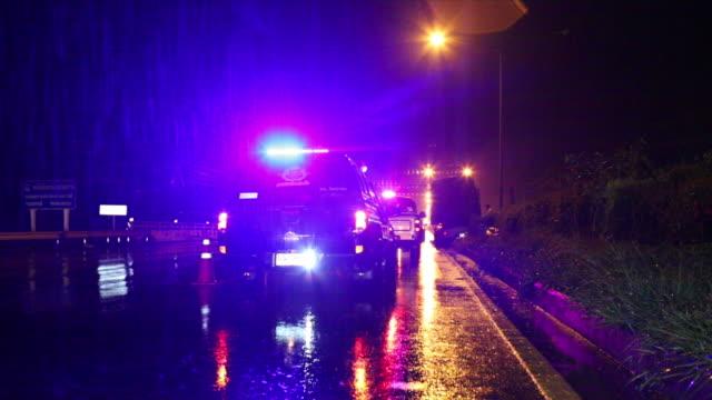 Ambulance night emergency. video