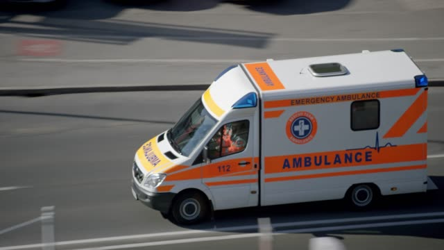 ambulance on an emergency ride in the city - paramedic stock videos and b-roll footage