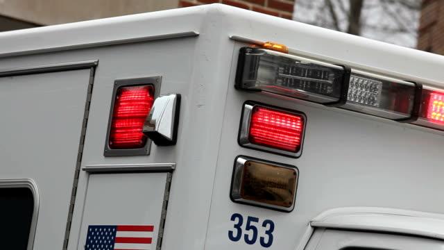Ambulance with flashing lights video