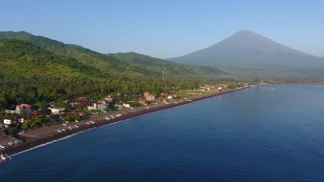 アメッドビーチエアビュー - インドネシア点の映像素材/bロール