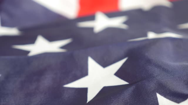 america national flag slow pan footage  in uhd - luglio video stock e b–roll