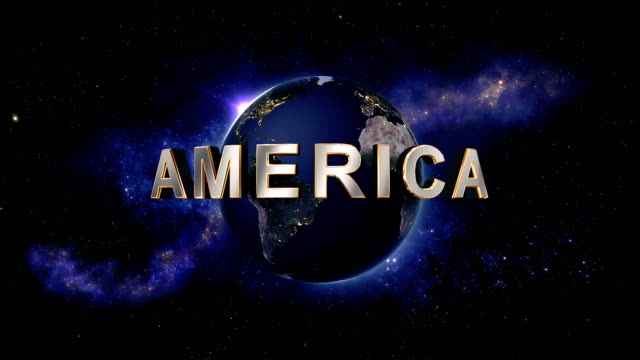 America title - the Earth from space showing all they beauty video