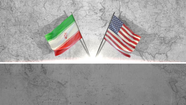 美國和伊朗國旗 - 伊朗 個影片檔及 b 捲影像