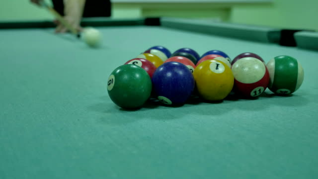 Royalty Free Snooker Bar HD Video K Stock Footage BRoll IStock - Pool table breakdown