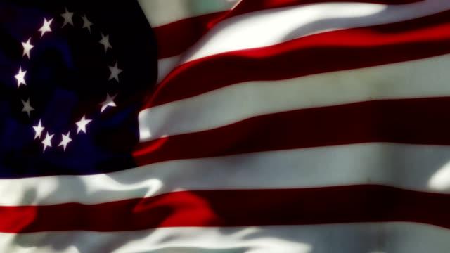 칠레식 식민지 플래깅 - american flag 스톡 비디오 및 b-롤 화면