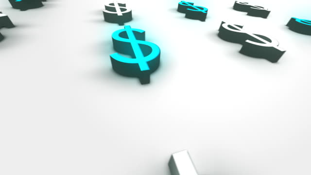 sfondo loopable valuta dollaro americano - full hd format video stock e b–roll