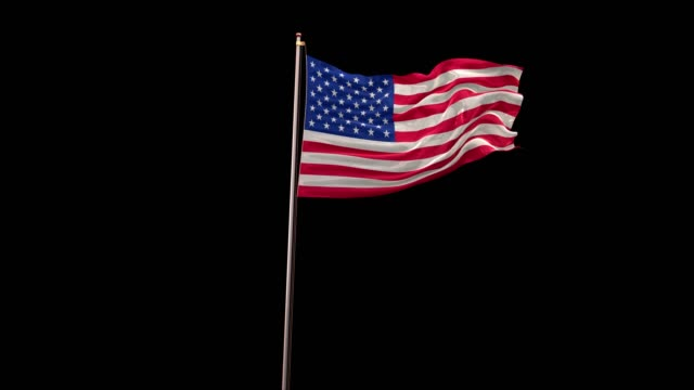 american flag 4k with alpha - memorial day стоковые видео и кадры b-roll