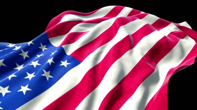 American Flag 4k With Alpha Stock Video Download Video Clip Now Istock
