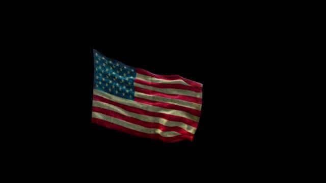 vídeos y material grabado en eventos de stock de bandera americana 4k con alfa - american flag