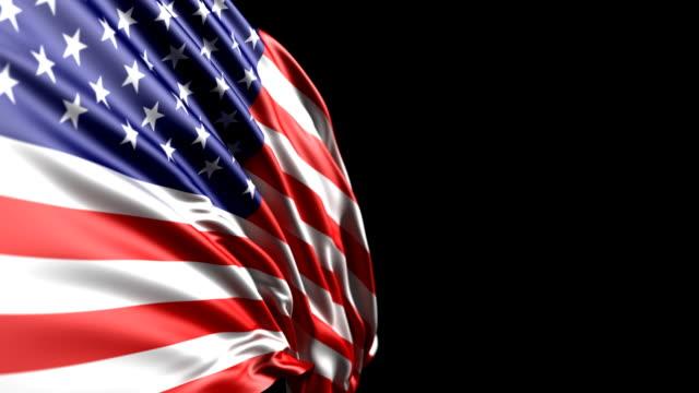 American Flag HD, PAL, NTSC, alpha included, looping video