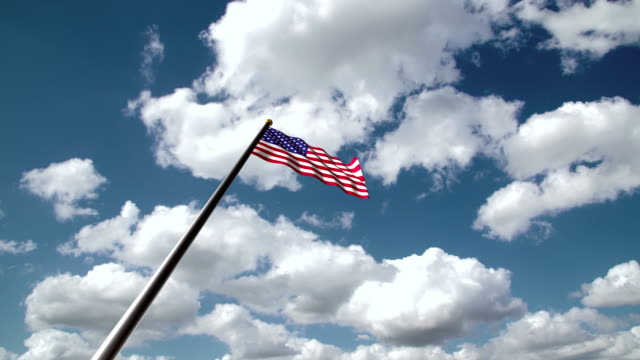 American flag hoisting or USA flag hoisting or Memorial day Flag hoisting