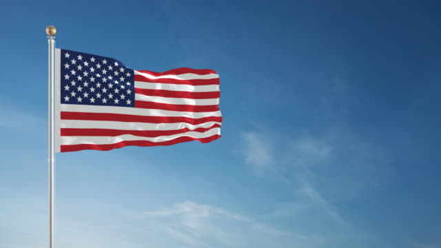 4k american flag - loopable - american flag stock videos & royalty-free footage