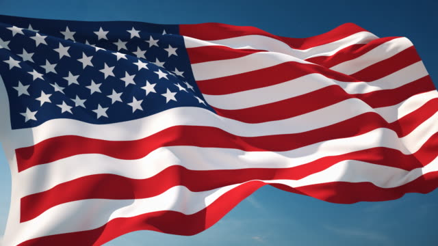 4K American Flag - Loopable video
