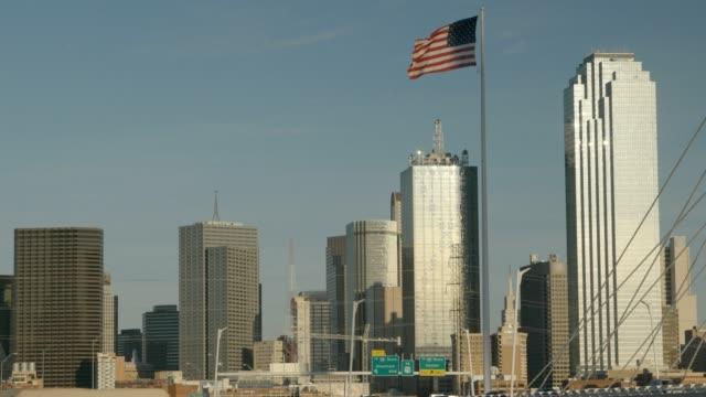 American Flag Over Dallas