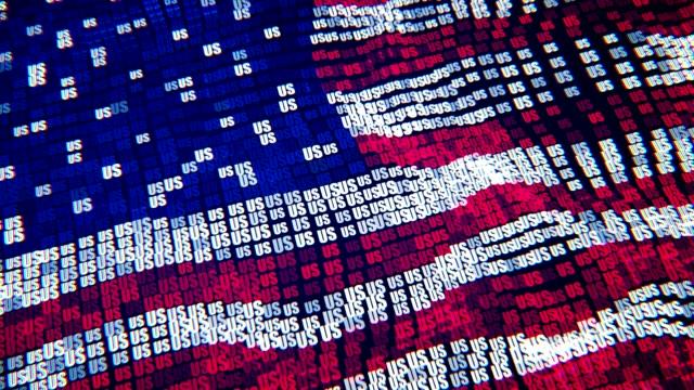 アメリカの国旗 - 粒子デジタル フラグ - 選挙点の映像素材/bロール