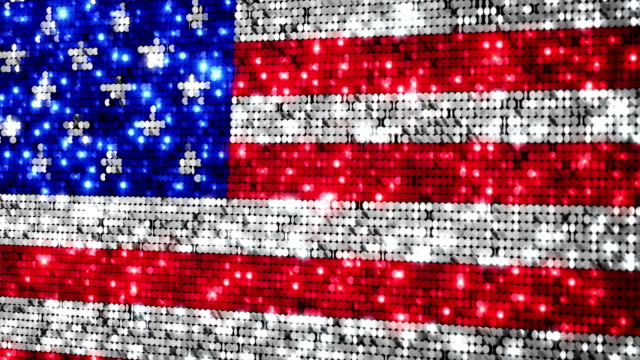 American flag. Sequins. Loopable. video