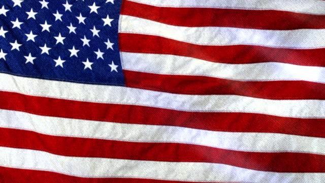 Amerikan bayrağı sallayarak yavaş. Amerikan bayrağı sallayarak kapatın. video