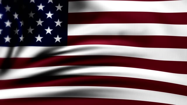 american flag slow waving. united states of america flag. usa. the animation loops 4k - veterans day filmów i materiałów b-roll