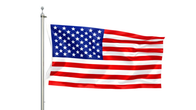 American Flag Stock Video in Matte