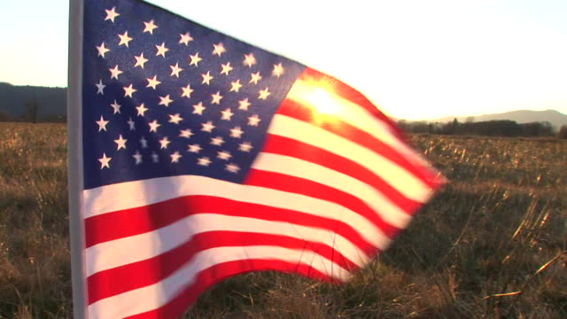 HD: American flag video