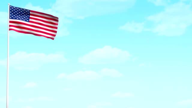 미국 칠레식 플래깅 - veterans day 스톡 비디오 및 b-롤 화면