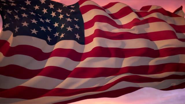 amerykańska flaga - american flag filmów i materiałów b-roll