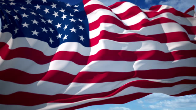 American Flag American Flag High Detail - Looping fourth of july videos stock videos & royalty-free footage