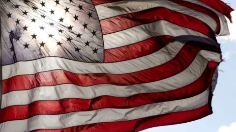 bandiera americana - culture video stock e b–roll