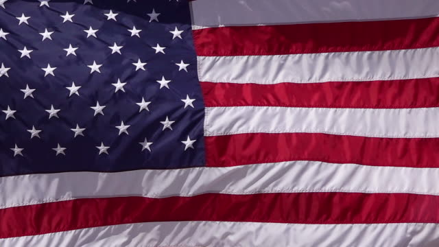 American Flag Waves In Slow Motion video