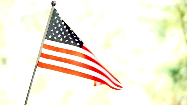 american flag waving in the breeze. - memorial day stock videos and b-roll footage
